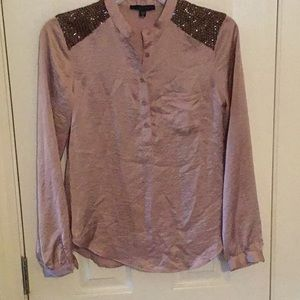 Joes Jeans Blouse with Sequin Detailing at Sleeves